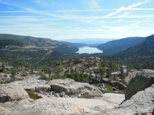 The view from Donner Lake Overview.