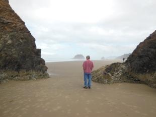 Scott at Arcadia Beach.
