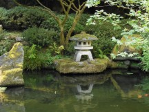 The Japanese Gardens in Portland.