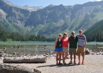 Family hike at Avalanche Lake in Glacier National Park the week before the nest was vacated.