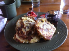 Cinnamon roll French toast at the Handy Creek Bakery.