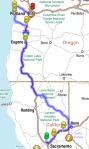 Our route, thanks to AAA.