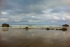 Clouds rolling in at Arcadia Beach, near Wheeler, Oregon.