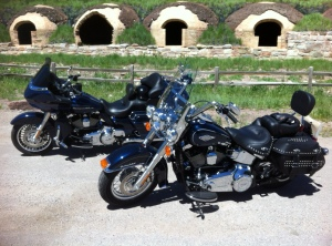 His and hers, on one of our first rides to nearby Redstone, Colorado. Mine is the pretty one in front.