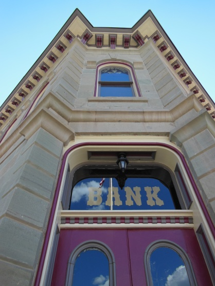 Beautifully preserved bank in downtown Lake City.