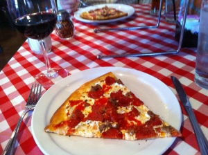 Don't miss the coal brick oven pizza at Grimaldi's!