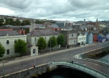 The view from the River Lee Hotel in Cork, Ireland.