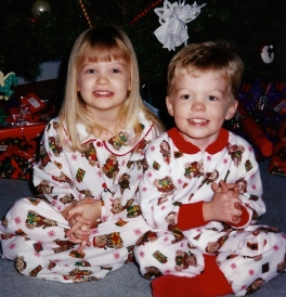Matching PJs make for the best Christmas pics!