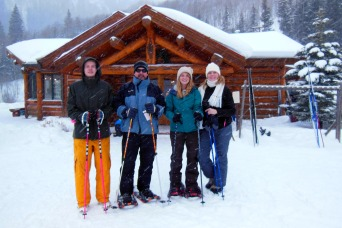 A snowy Christmas Eve at the Pine Creek Cookhouse.