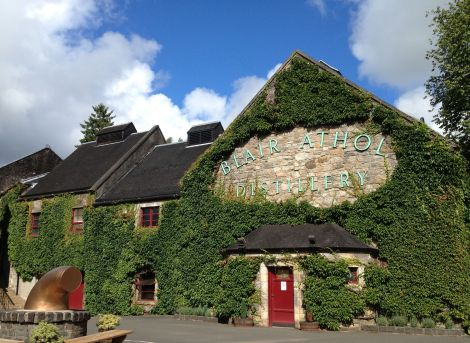 The Blair Athol Distillery in Pitlochry, Scotland.