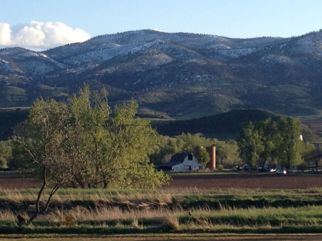 The view from the Fort Collins - Poudre Canyon KOA