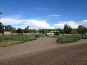 Campsite at Yampa River State Park