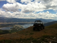 Off-roading on Mt. Elbert, above Twin Lakes, Colorado