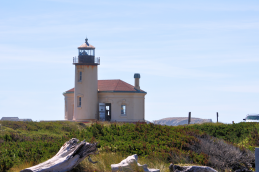 Coquille River Lighthouse Bandon red