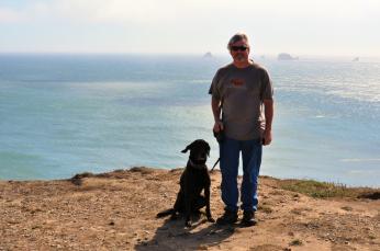 Scott and Jax at Cape Blanco