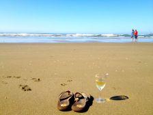 On the beach at the Oceanside RV Resort in Charleston, Oregon
