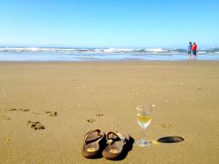 On the beach at the Oceanside RV Resort in Charleston, Oregon