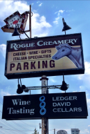 Rogue Creamery and Ledger David Sign