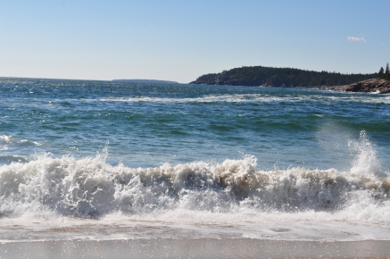 Sand Beach Acadia at National Park