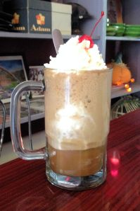 Coke float at the Corner Shop Diner in Bramwell