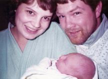 Julie, Kevin and baby David