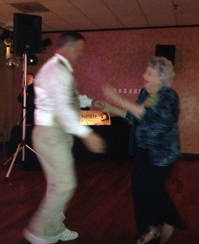 Kevin cutting a rug with Gerry