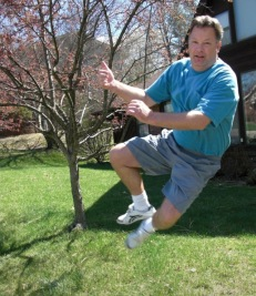 Kevin jumping