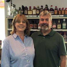 Scott and Mandy Gauldin at New Castle Liquors