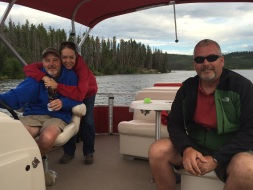 Boating at Grand Lake with long-time friends