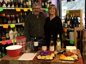 Our first wine tasting at the store