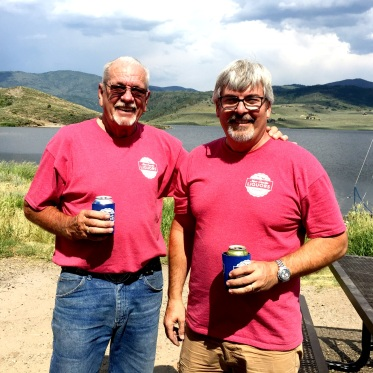 Scott and his dad. In matching shirts.
