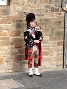 On the streets in Edinburgh