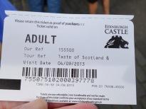 Ticket to tour Edinburgh Castle