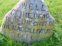 Marker at Culloden Moor