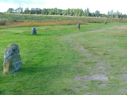 Clan markers on Culloden Moor