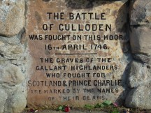 Sign on Culloden Tribute