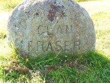 Clan Fraser marker at Culloden Moor